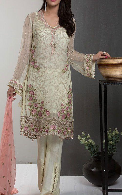 Pakistani designer chiffon clothing