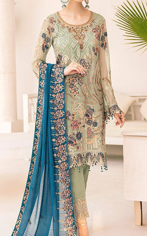 Buy Pakistani Chiffon Dresses