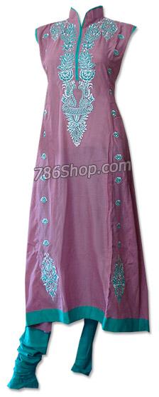 Tea Pink/Turquoise Cotton Lawn Suit  | Pakistani Dresses in USA