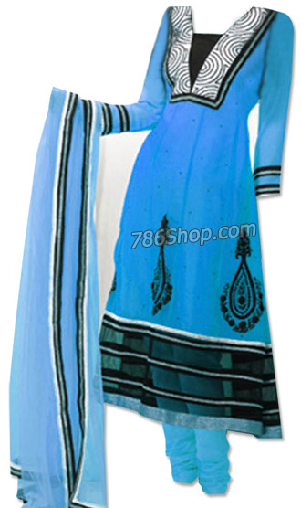 Turquoise Georgette Suit | Pakistani Dresses in USA