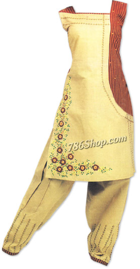 Cream Georgette Suit | Pakistani Dresses in USA