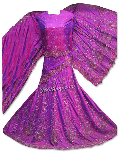 Magenta Silk Lehnga | Pakistani Wedding Dresses in USA