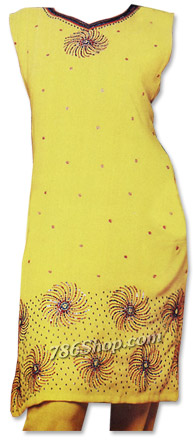 Yellow Chiffon Trouser Suit | Pakistani Dresses in USA