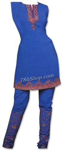 Royal Blue Georgette Suit   Pakistani Dresses in USA