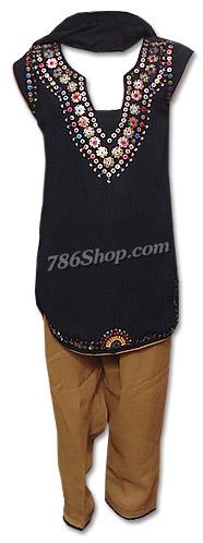 Black/Brown Chiffon Suit | Pakistani Dresses in USA