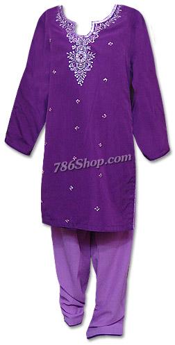 Purple Georgette Suit  | Pakistani Dresses in USA