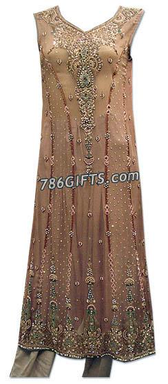 Tea Pink Crinkle Chiffon Suit   | Pakistani Dresses in USA