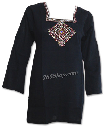 Black Khaddi Cotton Kurti | Pakistani Dresses in USA