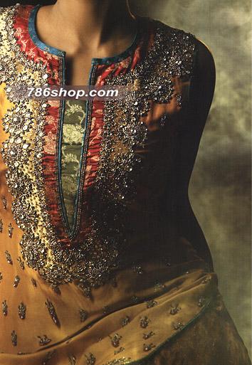 Mustard Silk Suit  | Pakistani Party and Designer Dresses