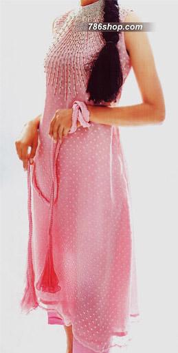 Pink Jamawar Chiffon Suit | Pakistani Party and Designer Dresses in USA
