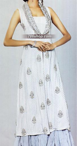 Light Blue Chiffon Lehnga   | Pakistani Wedding Dresses