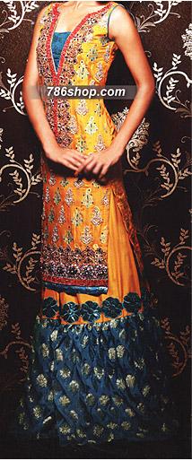 Mustard Silk Suit     | Pakistani Wedding Dresses