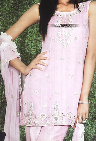 Pink Chiffon Suit | Pakistani Party and Designer Dresses