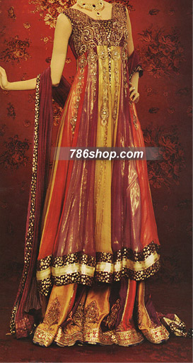 Magenta/Red Silk Suit | Pakistani Wedding Dresses