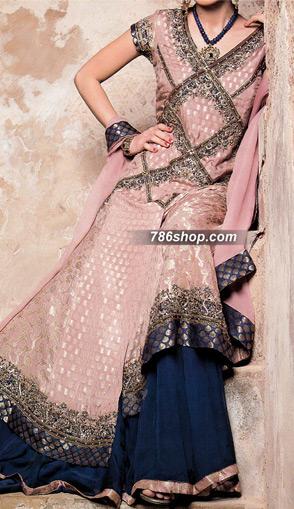 Tea Pink Jamawar Suit    Pakistani Wedding Dresses