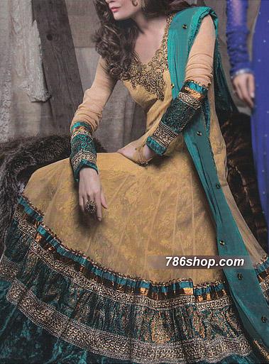 Mustard Crinkle Chiffon Suit | Pakistani Party and Designer Dresses