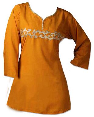 Mustard Cotton Kurti  | Pakistani Dresses in USA