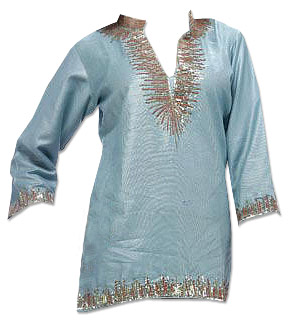 Light Blue Georgette Kurti  | Pakistani Dresses in USA