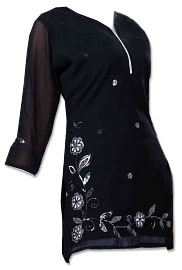 Black Georgette Kurti  | Pakistani Dresses in USA
