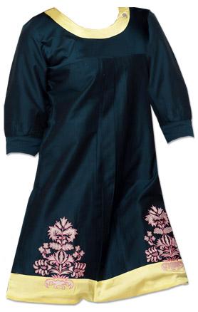 Navy Blue Cotton Kurti  | Pakistani Dresses in USA