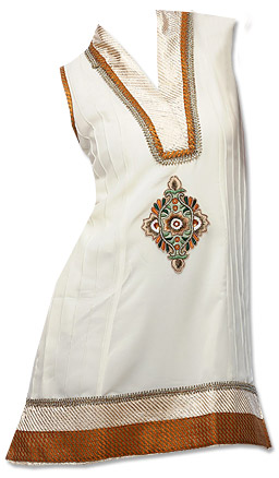 White Cotton Kurti     Pakistani Dresses in USA