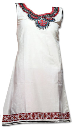 White Cotton Kurti   | Pakistani Dresses in USA