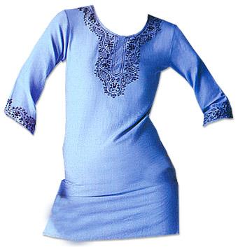 Light Blue Khaddi Cotton Kurti | Pakistani Dresses in USA