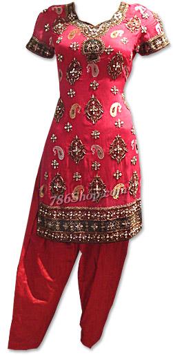 Magenta Crinkle Chiffon Suit | Pakistani Dresses in USA