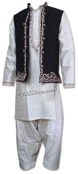 Silk Waistcoat Suit    Pakistani Mens Suits Online, Dresses for Men