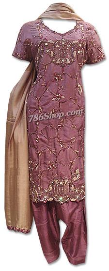 Purple Silk Suit   Pakistani Dresses in USA