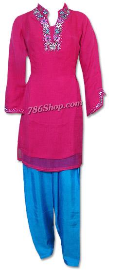 Hot Pink/Turquoise Chiffon Suit | Pakistani Dresses in USA
