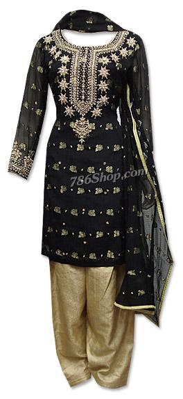 Blackgolden Chiffon Jamawar Suit Buy Pakistani Indian Dresses
