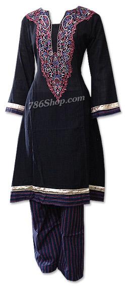 Black Khaddar Suit   | Pakistani Dresses in USA
