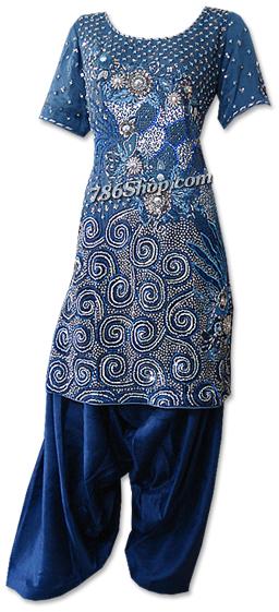 Dark Blueberry Crinkle Chiffon Suit   Pakistani Dresses in USA