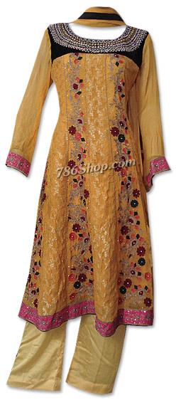 Mustard Jamawar Chiffon Suit  | Pakistani Dresses in USA