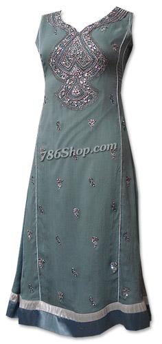 Grey Chiffon Suit  | Pakistani Dresses in USA