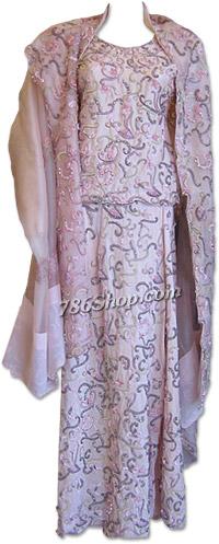 Pink Raw Silk Lehnga   Pakistani Wedding Dresses in USA