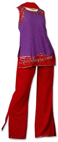 Dark Purple/Maroon Georgette Trouser Suit | Pakistani Dresses in USA