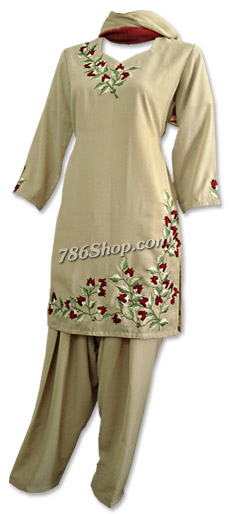 Skin Color Georgette Suit    Pakistani Dresses in USA