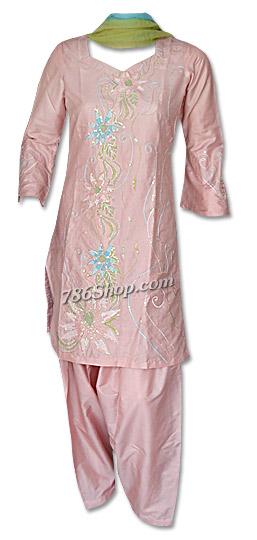 Peach Silk Suit   Pakistani Dresses in USA