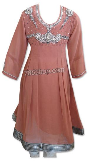 Peach Georgette Suit   | Pakistani Dresses in USA