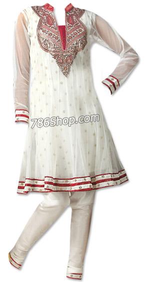 White Chiffon Jamawar Suit     Pakistani Dresses in USA