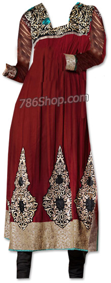 Maroon/Black Chiffon Suit    Pakistani Dresses in USA