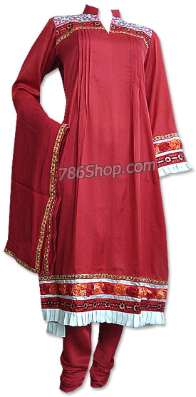 Rust Georgette Suit  | Pakistani Dresses in USA