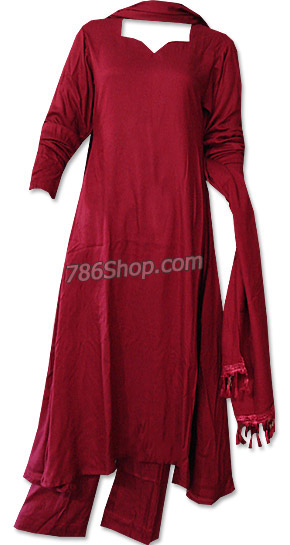 Maroon Marina Suit | Pakistani Dresses in USA