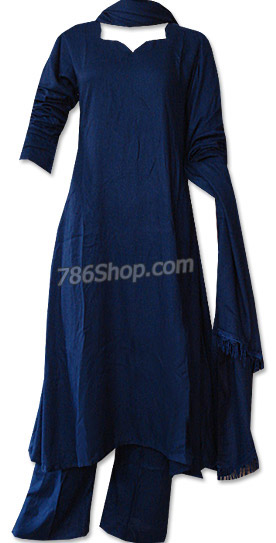 Navy Blue Marina Suit | Pakistani Dresses in USA
