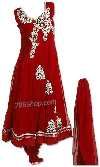 Red Chiffon Suit   | Pakistani Dresses in USA