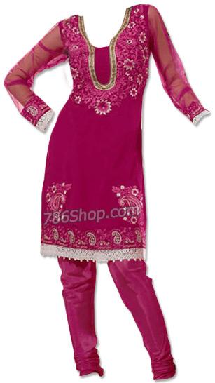Magenta Chiffon Suit | Pakistani Dresses in USA