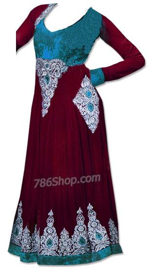 Maroon Chiffon Suit | Pakistani Dresses in USA