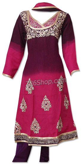 Magenta Georgette Suit    | Pakistani Dresses in USA
